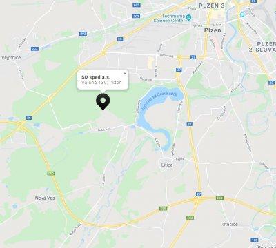Lokalita dálnice D5